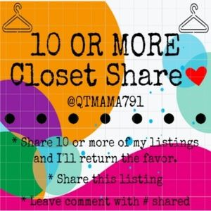 10 or More Share for Share Group Tuesday 10/08/19